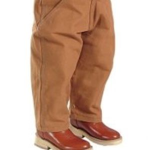 Carhartt lined pants khaki color